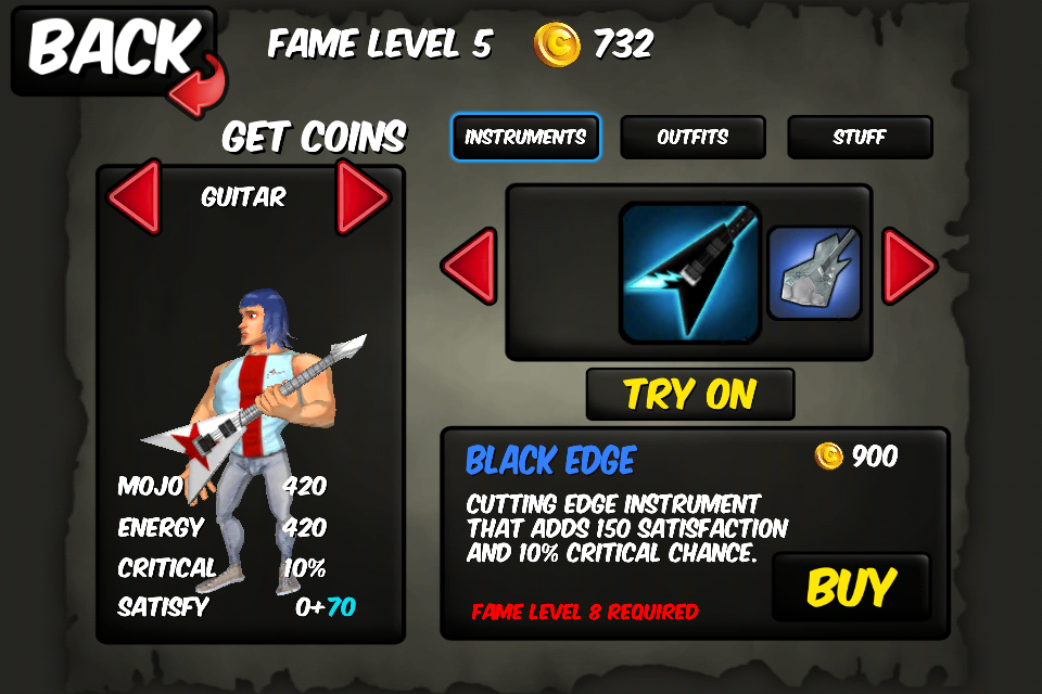 Screenshot Rise to Fame: The Music RPG